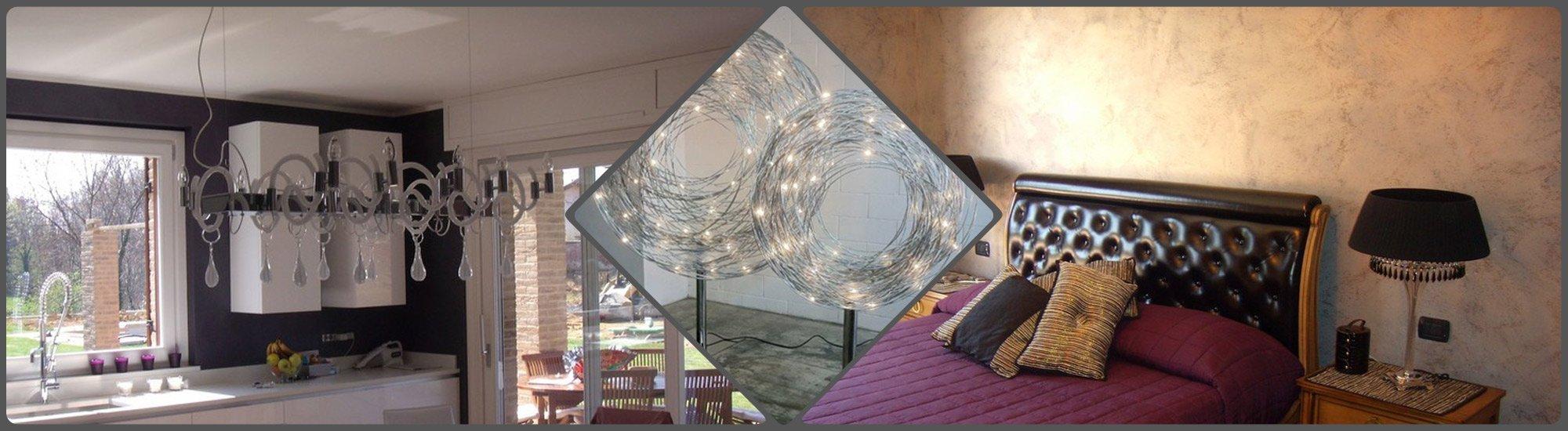 Vista delle ambientazioni riprodotte grazie ai lampadari dei marchi utilizzati dalla F.A.L.C. Lampadari di Ciriè