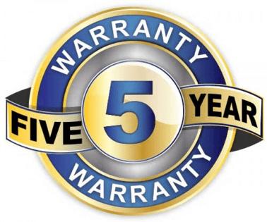 5 Year guarantee logo