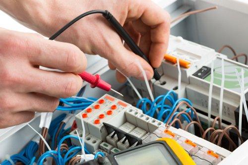 Electrical repair work in progress