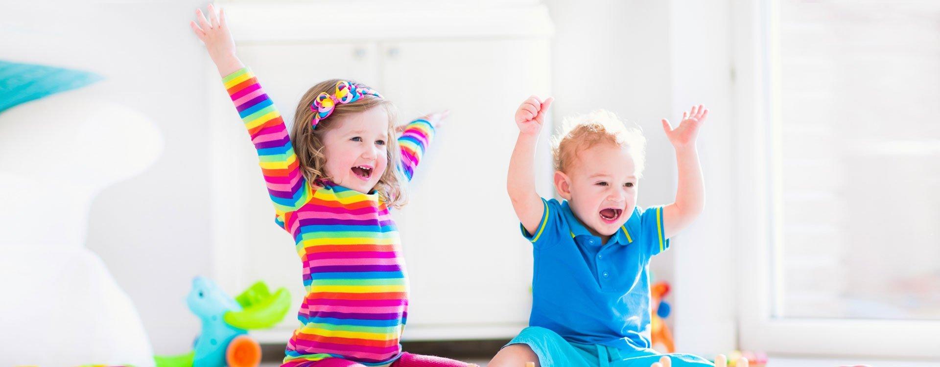2 kids enjoying