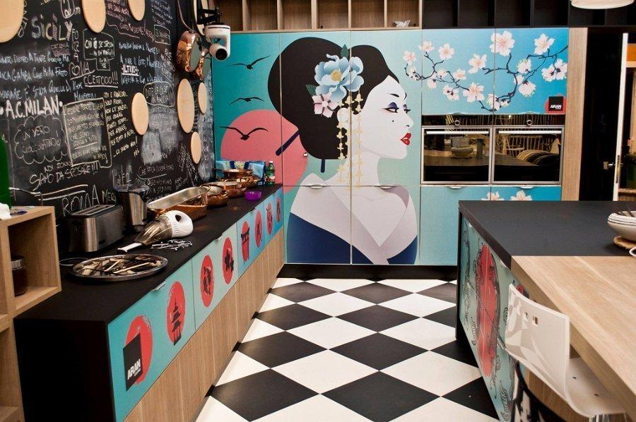 cucina con murales
