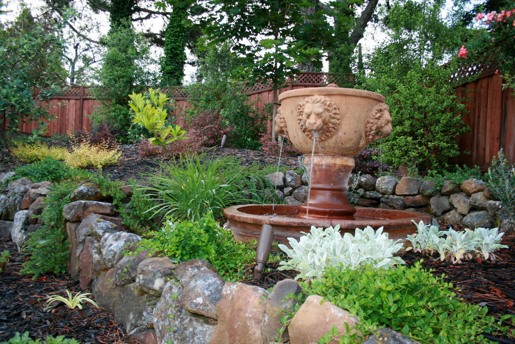 pictures features koi and creeks bubblers fountains pond for landscaping in pondless water new tiered garden seattle ponds feature