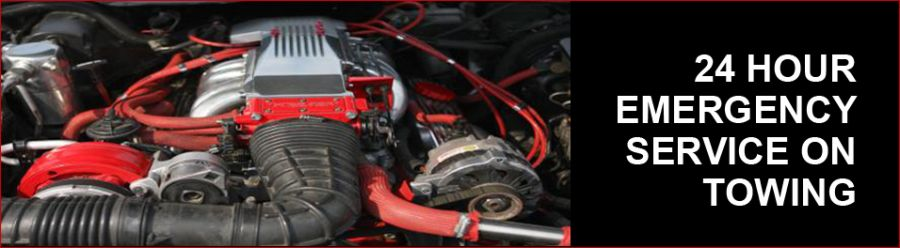 Servicing motor from automotive towing and garage in Black River Falls, WI