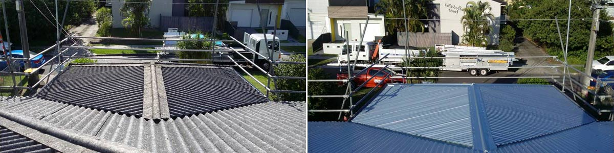 over the top roofing before and after roof top