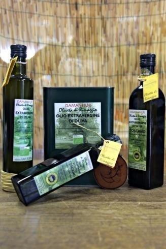 Confezioni di olio extra vergine di oliva