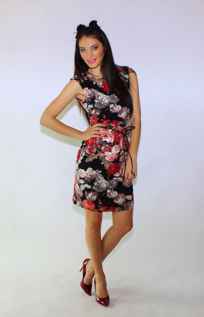 vestito corto a fiori