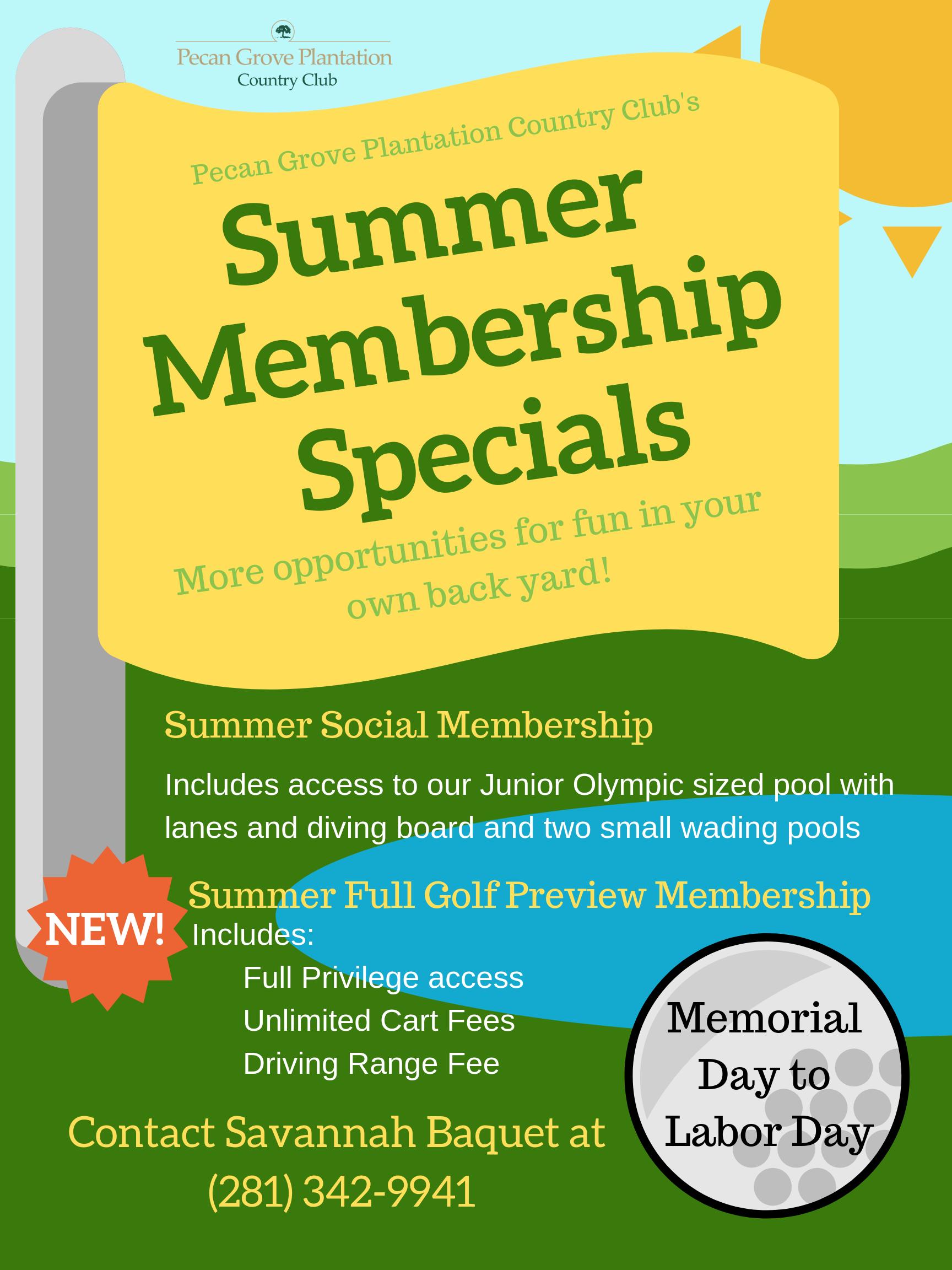 Membership   Pecan Grove Plantation Country Club   Richmond
