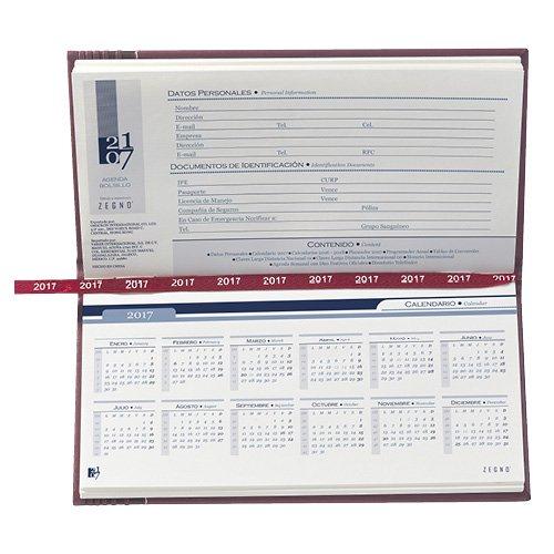 Agenda de Bolsillo Clásica Calendario