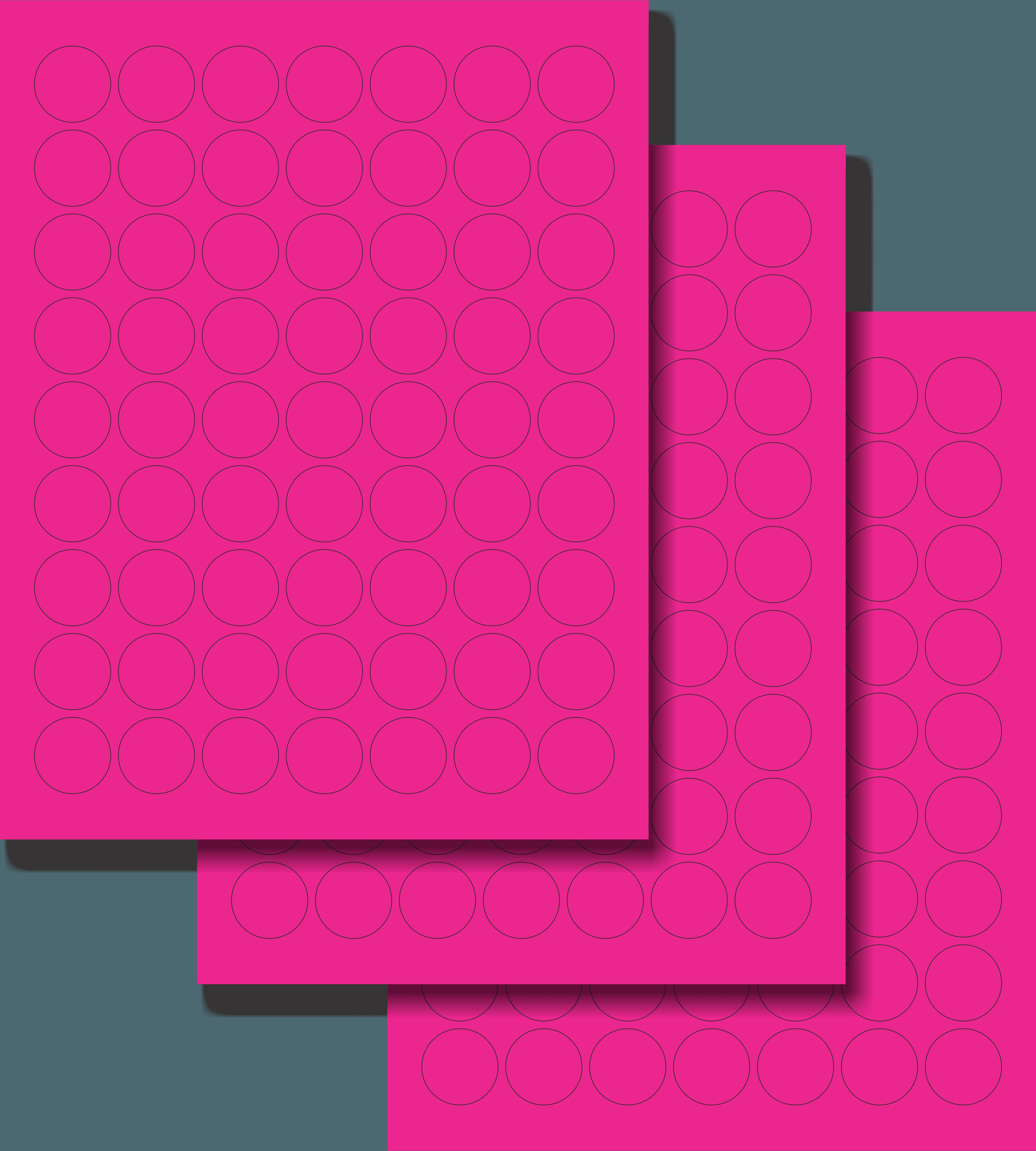 Etiquetas Adhesivas Láser Circulares - Fluorescente 1
