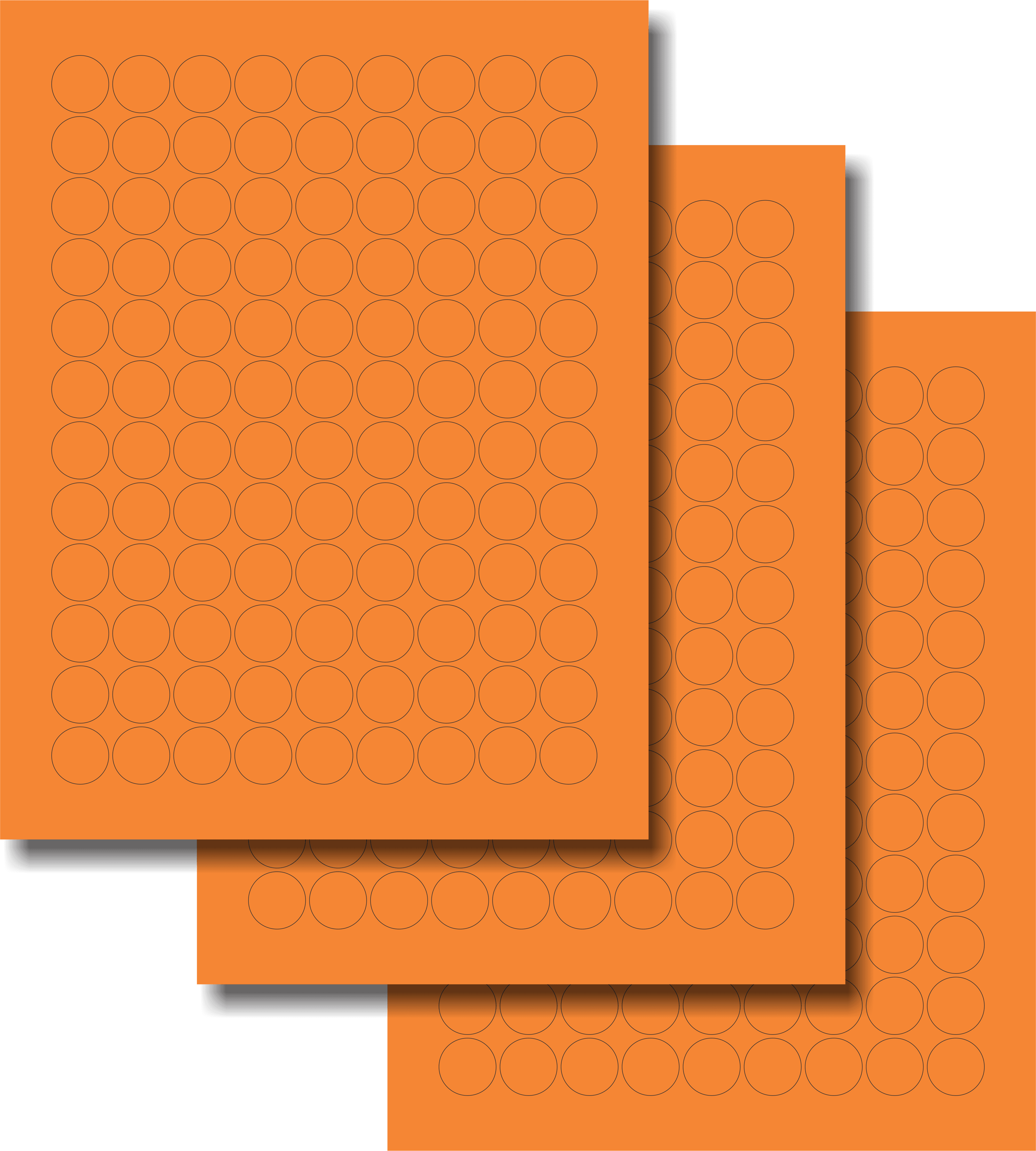 Etiquetas Adhesivas Láser Circulares - Fluorescente 3/4