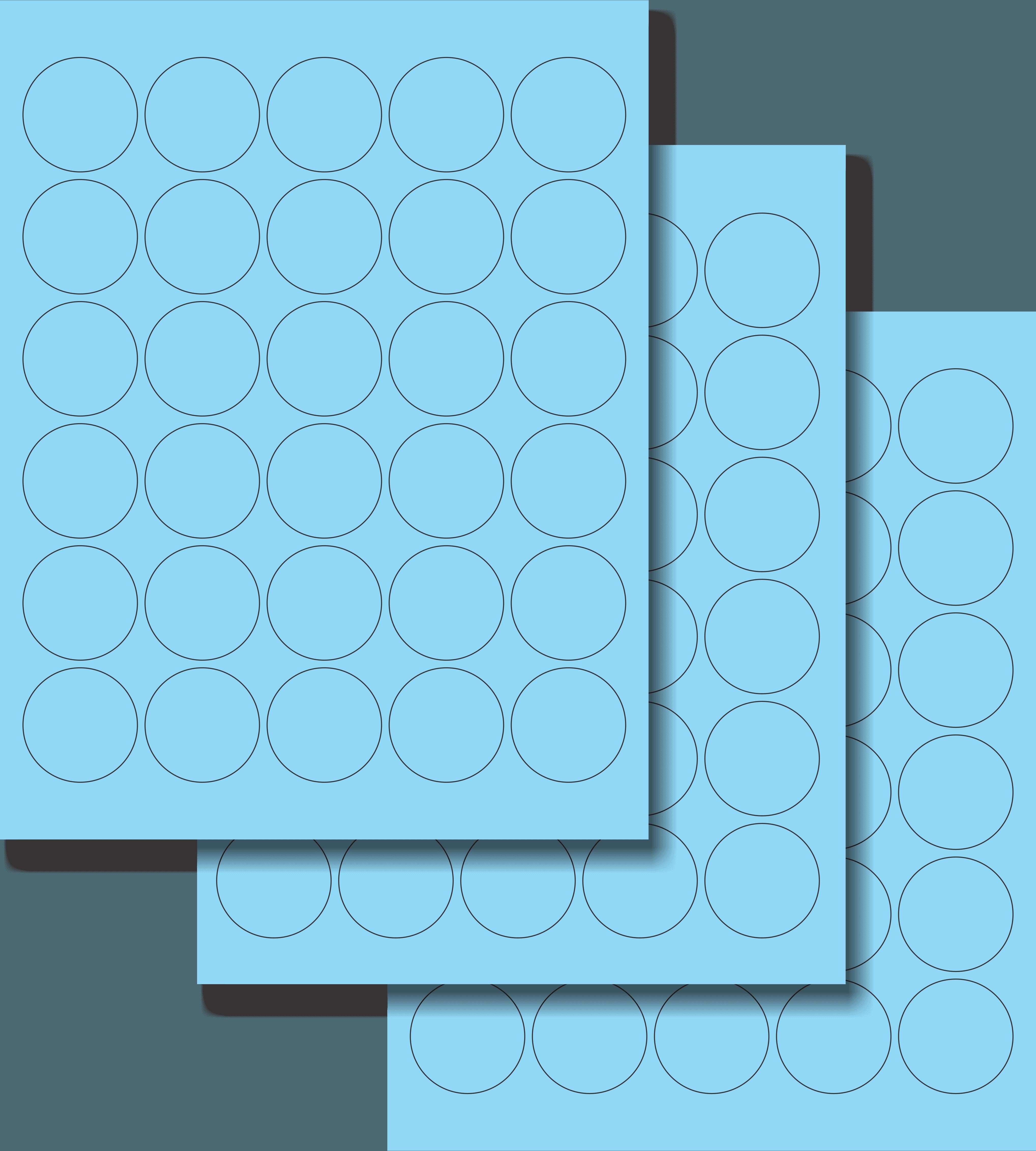 Etiquetas Adhesivas Láser Circulares - Fluorescente 1 1/2