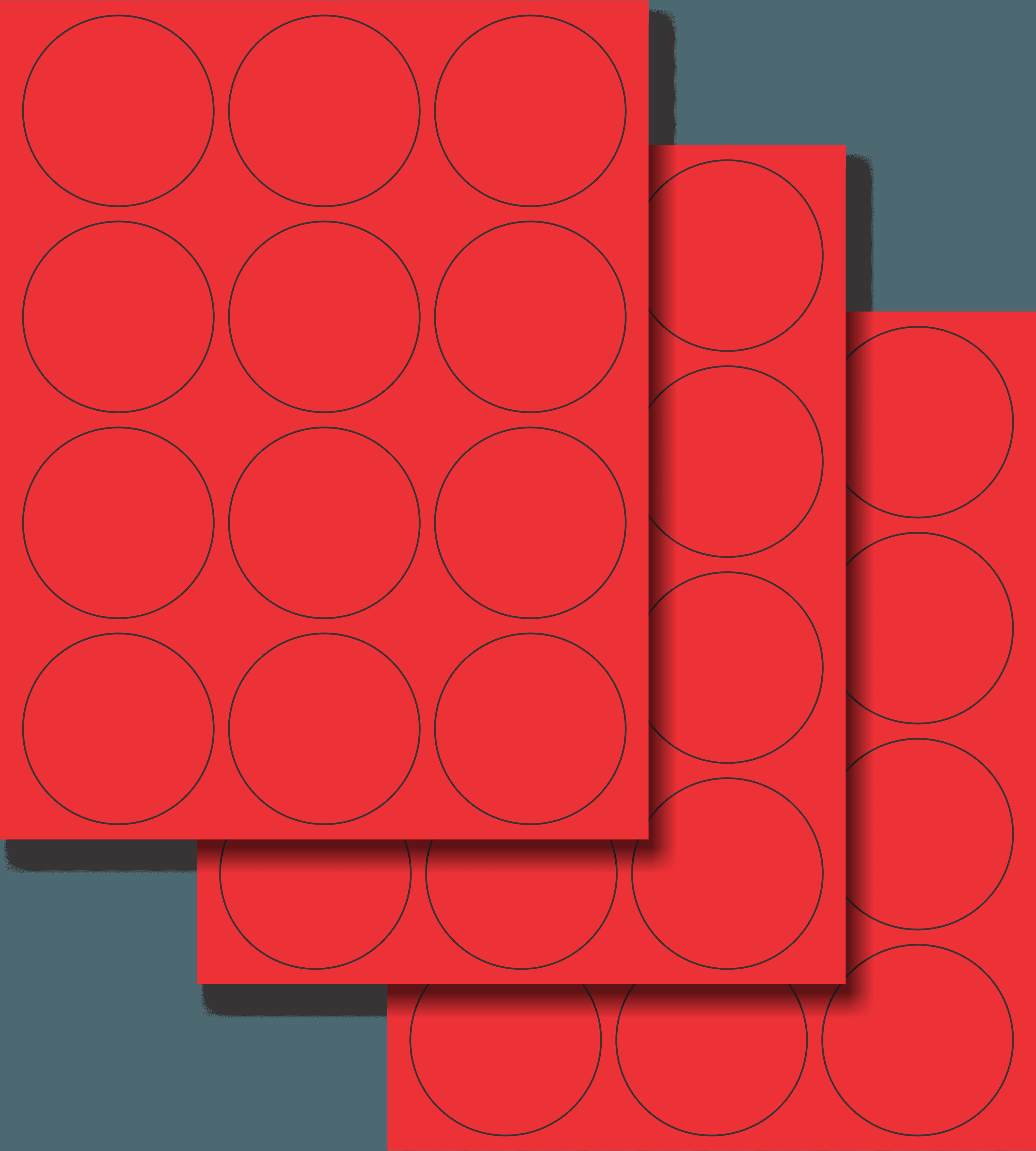 Etiquetas Adhesivas Láser Circulares - Fluorescente 2 1/2