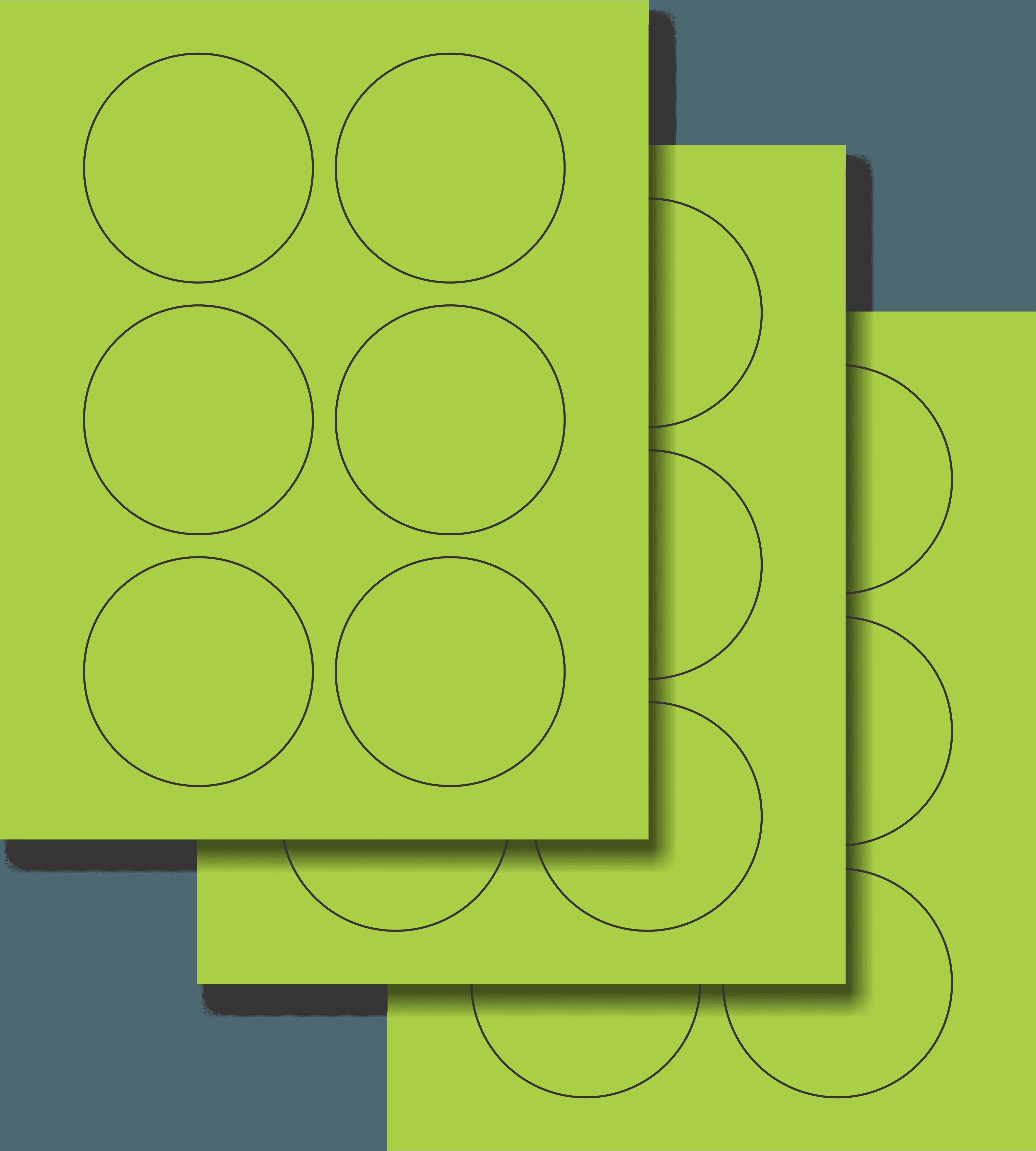 Etiquetas Adhesivas Láser Circulares - Fluorescente 3