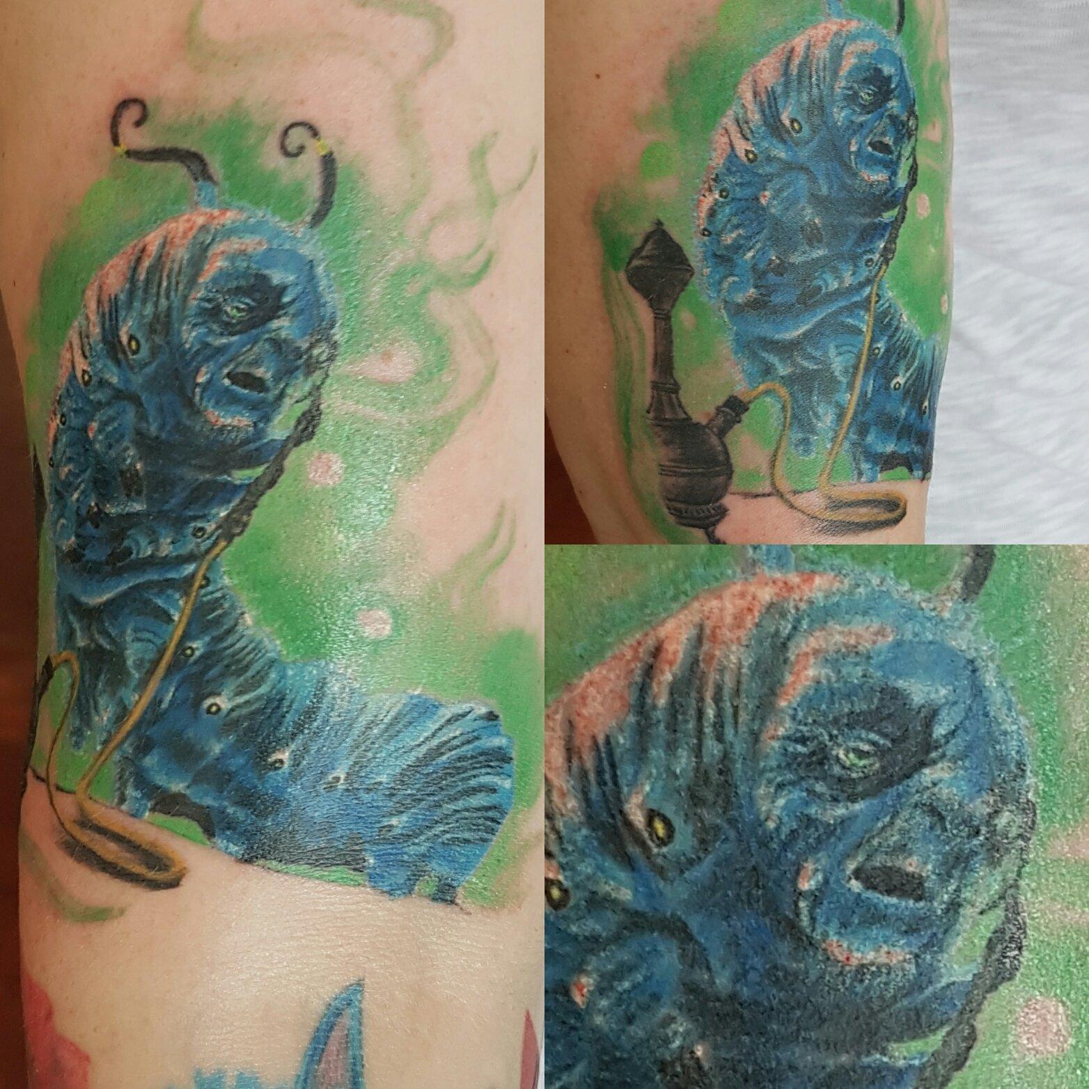 tattoo of a caterpillar