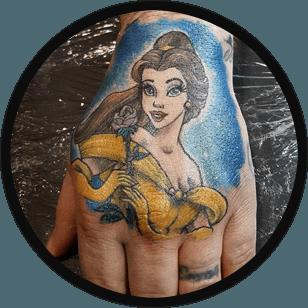 Mermaid tattoo on the hand