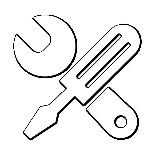 icona di cacciavite e chiave inglese