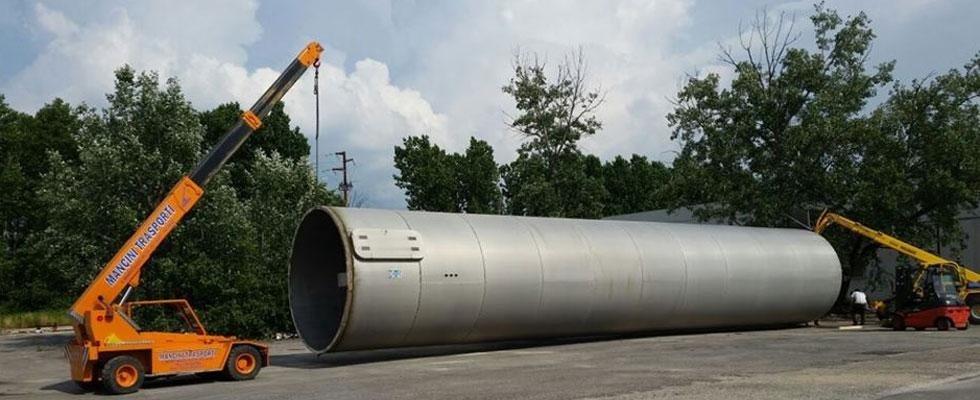 Smontaggio silos