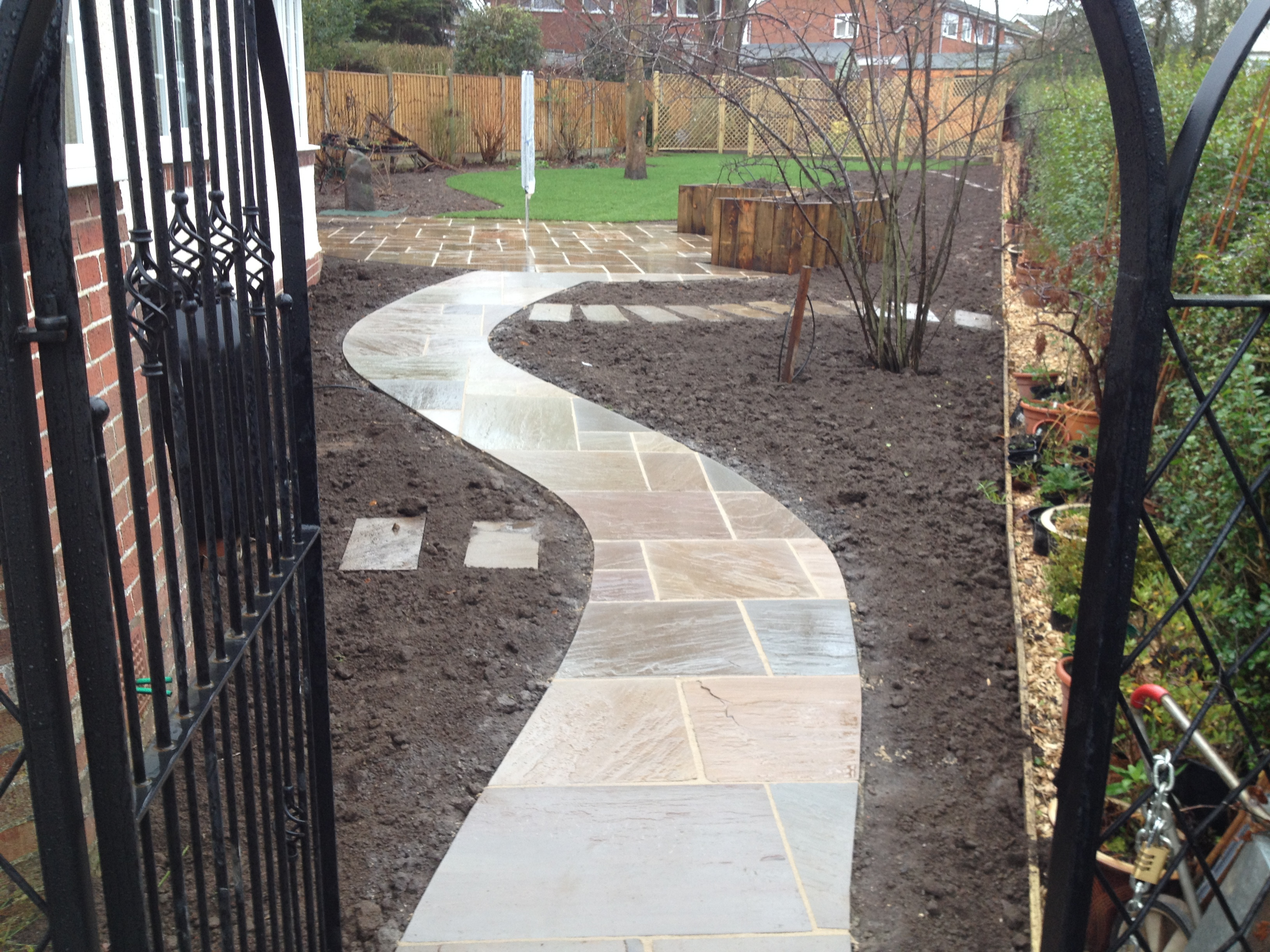Pathway laying