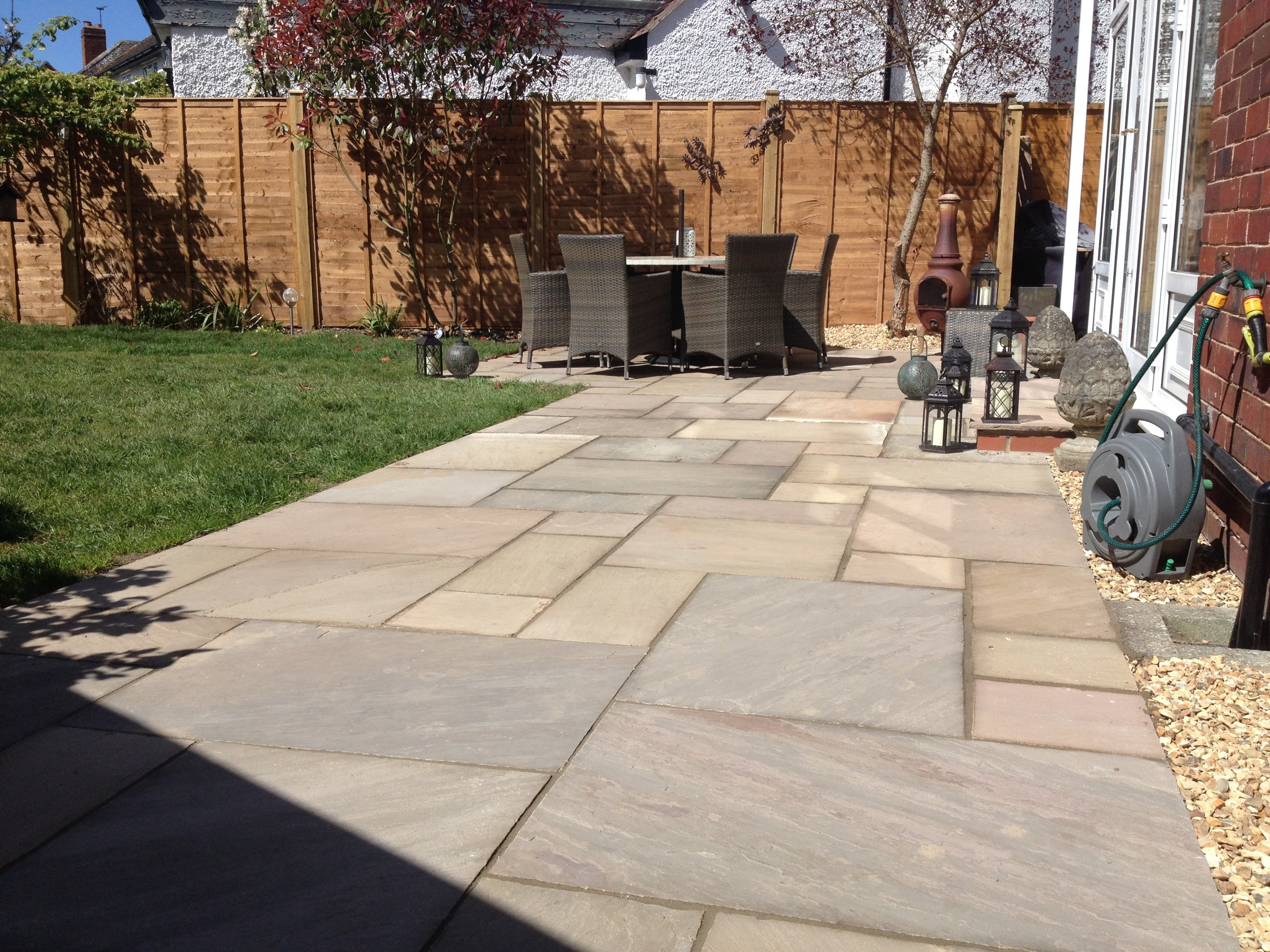 Block paving for pathways
