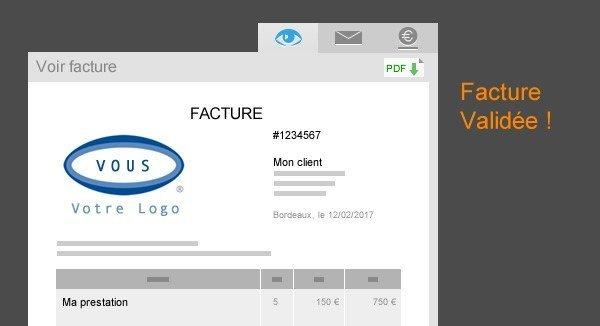 capture écran factomos valider facture