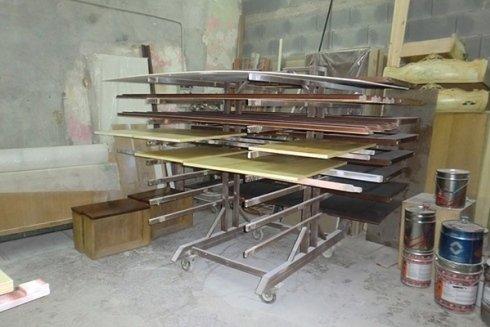 assi di legno di colori diversi