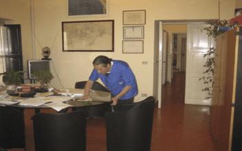 Pulizia scrivania