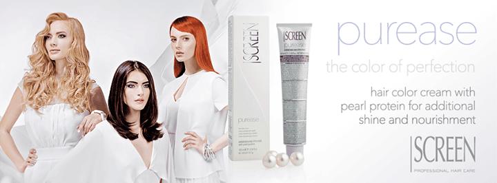 locandina colore capelli a marchio Purease Screen