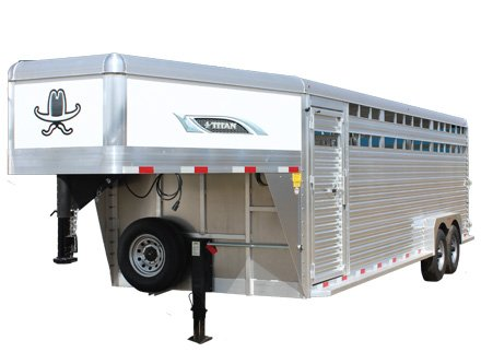 Titan Aluminum Gooseneck Stock Trailer - Blue Valley Trailers