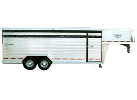 Logan Stockman Gooseneck Livestock Trailer - Kansas Dealer