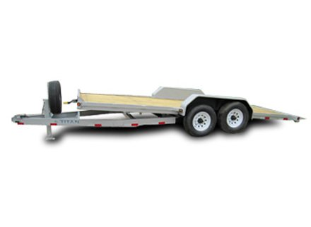 Titan Utility Tilt Deck Bumper Hitch Trailer