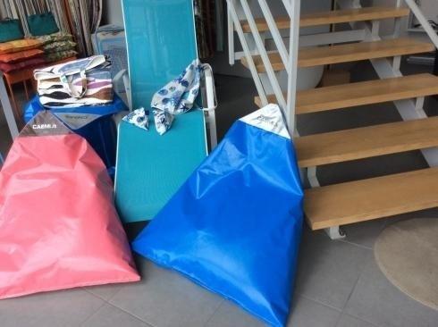 Cuscini, sacchi, per esterni sdraio, accessori per giardino