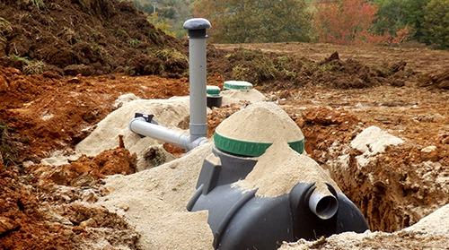 Reliable septic tank installation in progress in Ruidoso, NM