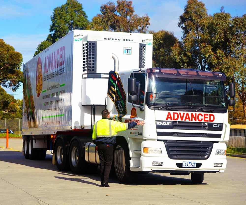 heavy combination truck