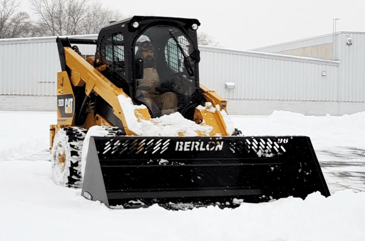 High Capacity Snow Bucket Skid Steer Attachment Berlon