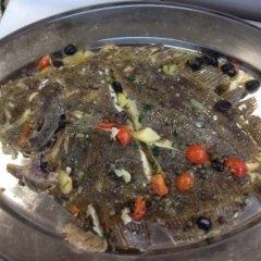 pesce al forno con verdure, pesce lesso con verdurine