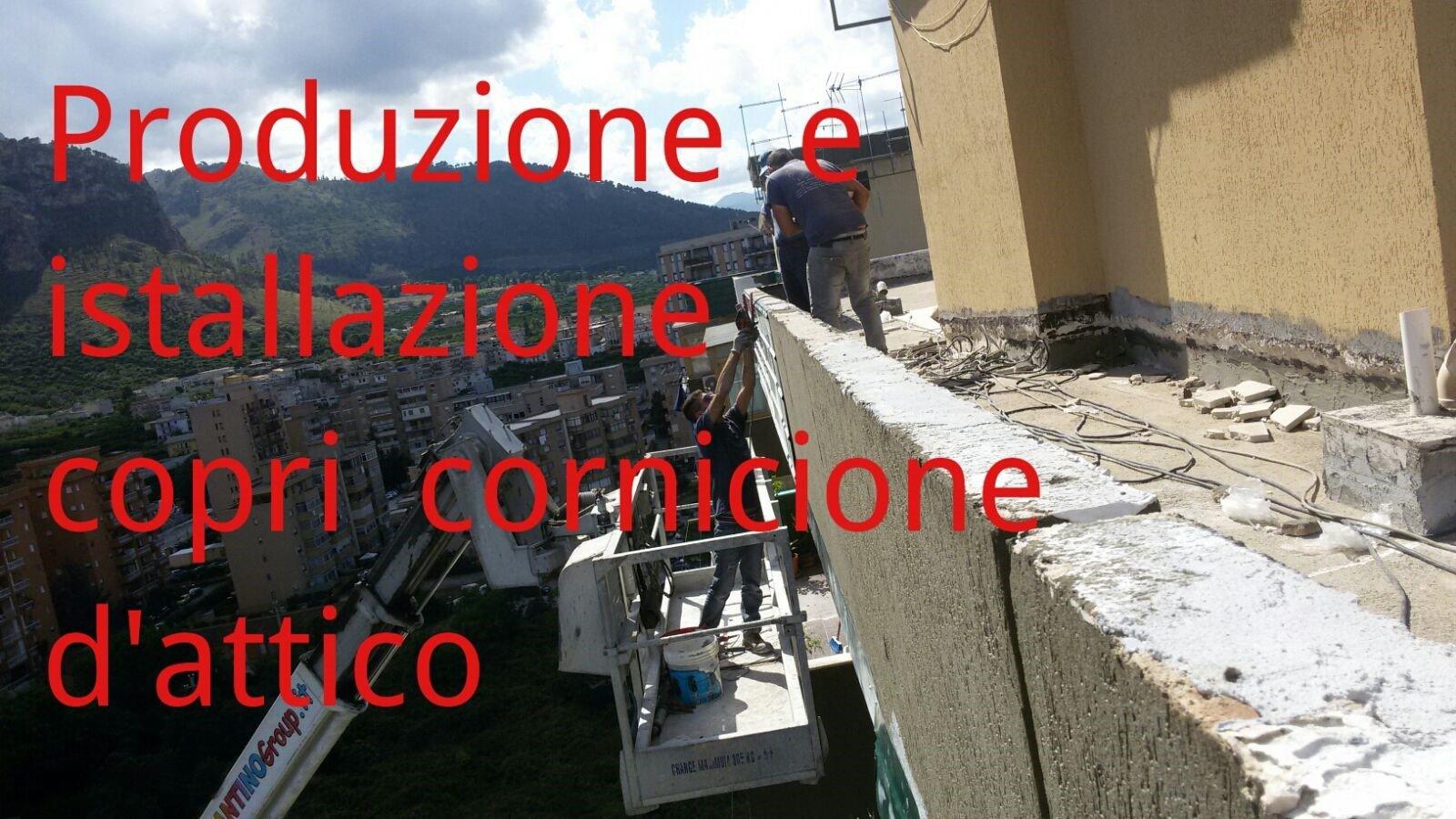 Produzione ed installazione copri cornicione attico