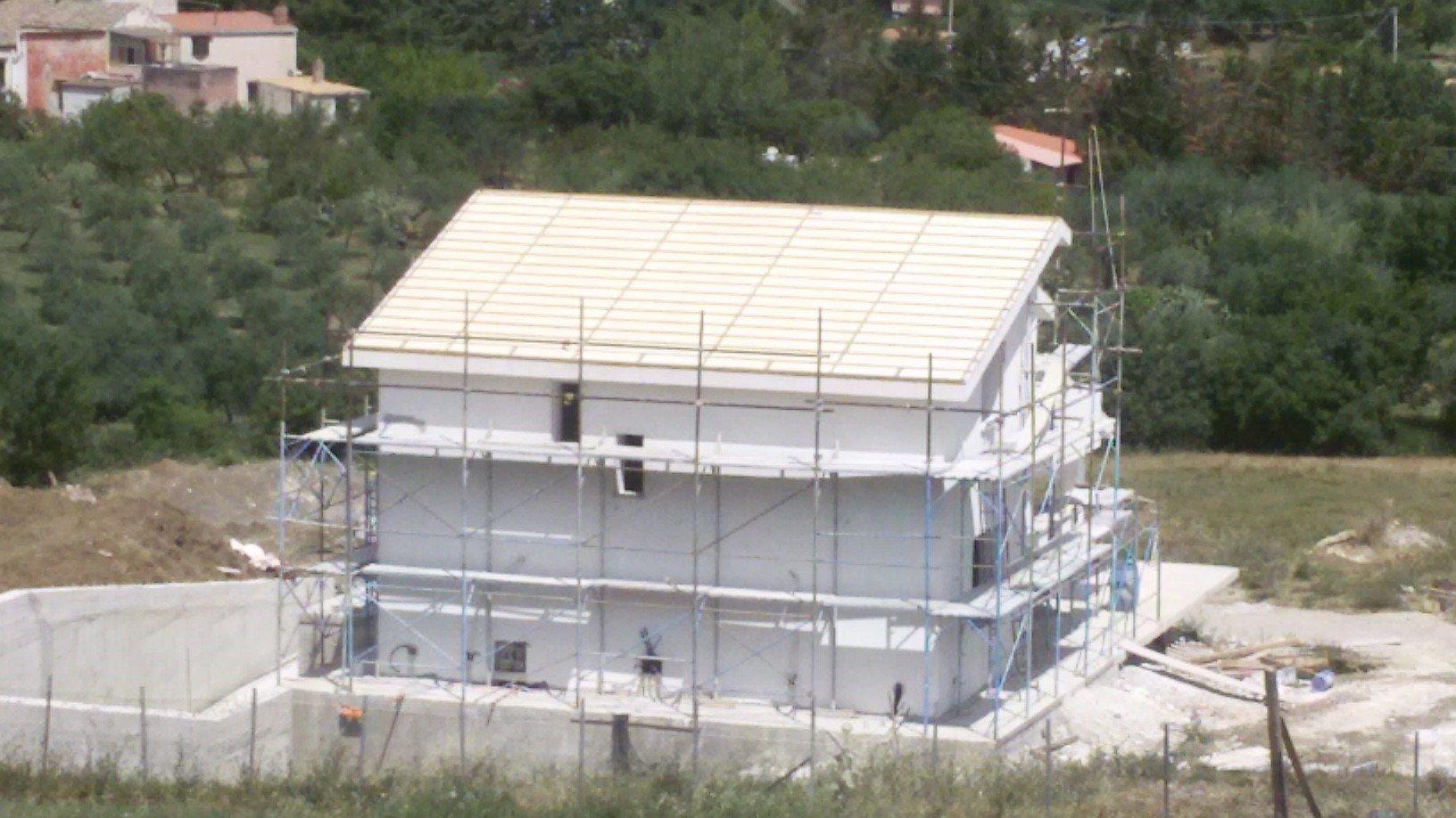 rifacimento tetto villa privata