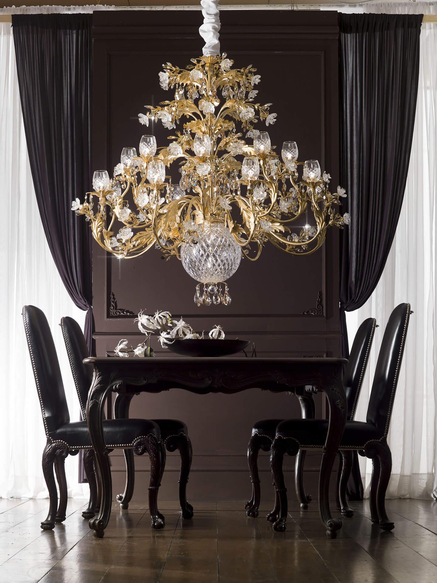lampadario barocco