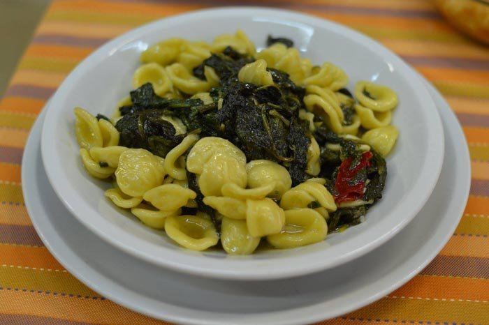 conchiglie con spinaci