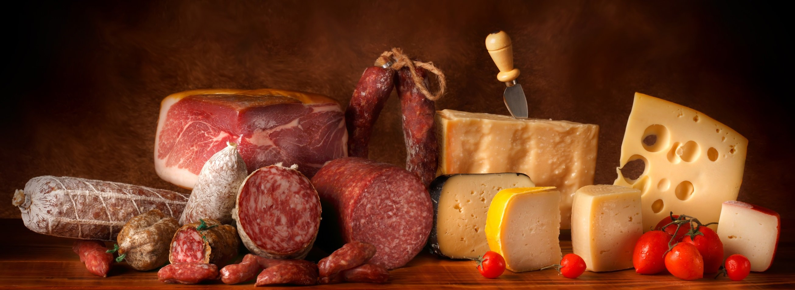 View of best meat and cheese