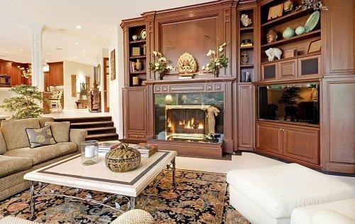 salotto con mobili eleganti