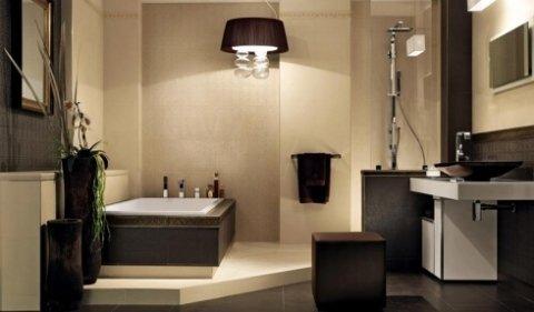 bagno con arredo elegante