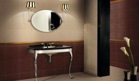 bagno con lavandino elegante