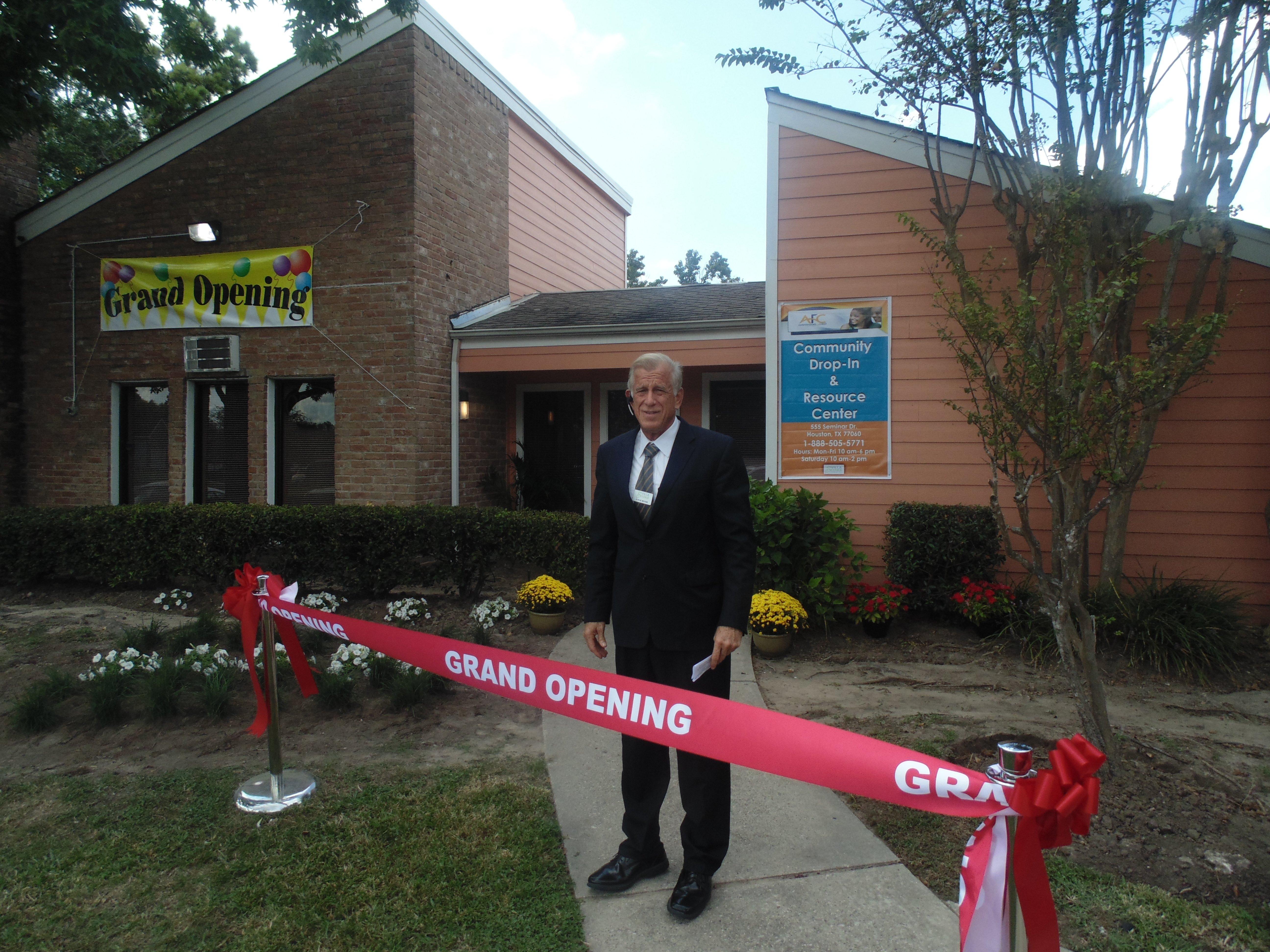 Steve Moore at Grand Opening of New Villa Serena Community Building