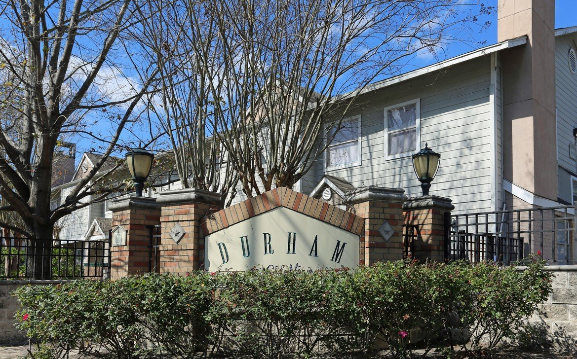 Durham at Cityview Main Entrance - Houston Apartment Complex