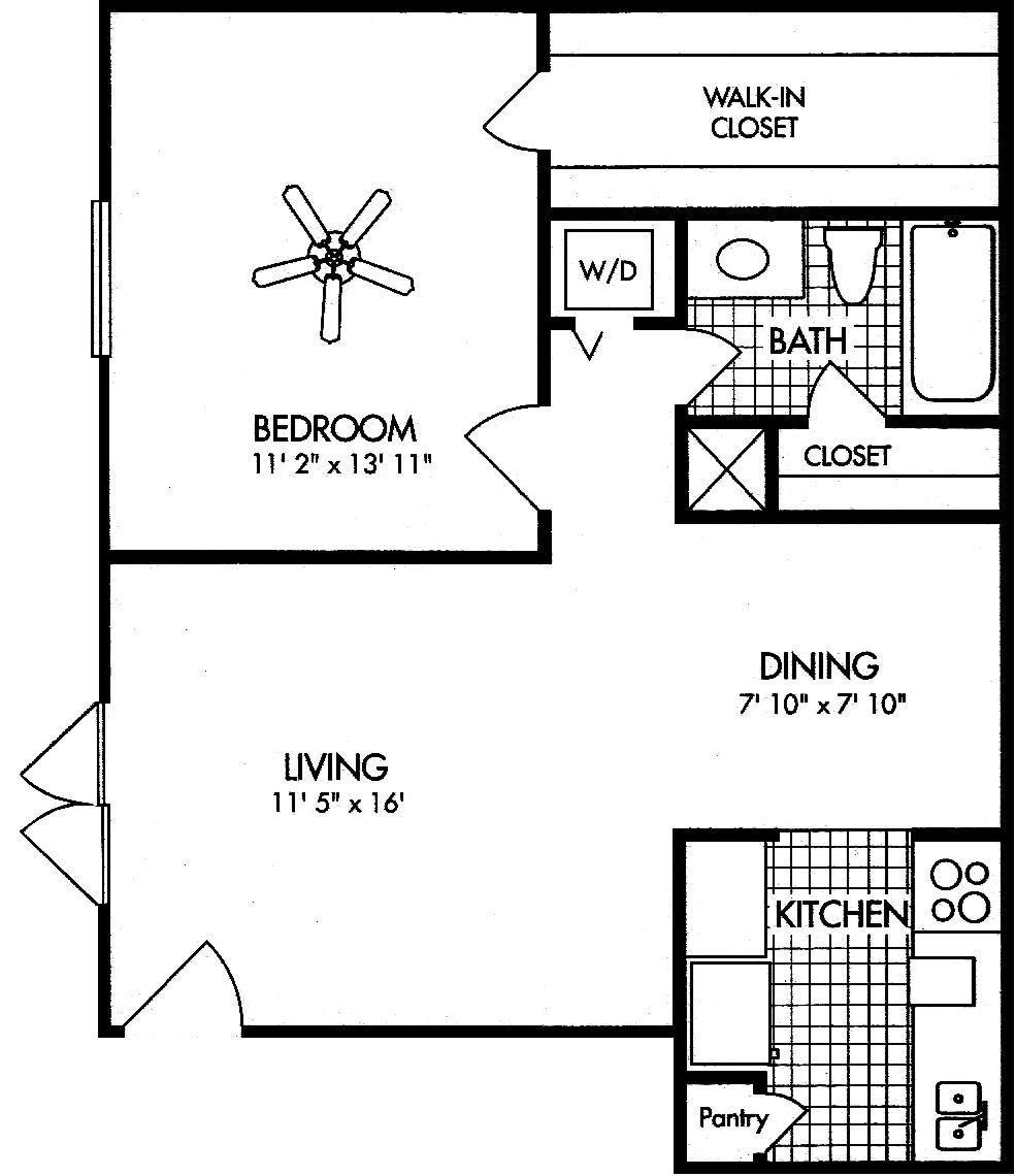 Apartment Complex Houston Amherst Floor Plans 1 bed 1 bath 643 sq ft