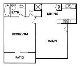 Heatherwood Houston Texas Floor Plan 1 bed 1 bath