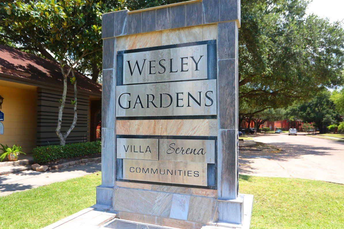 Wesley Garden Main Sign