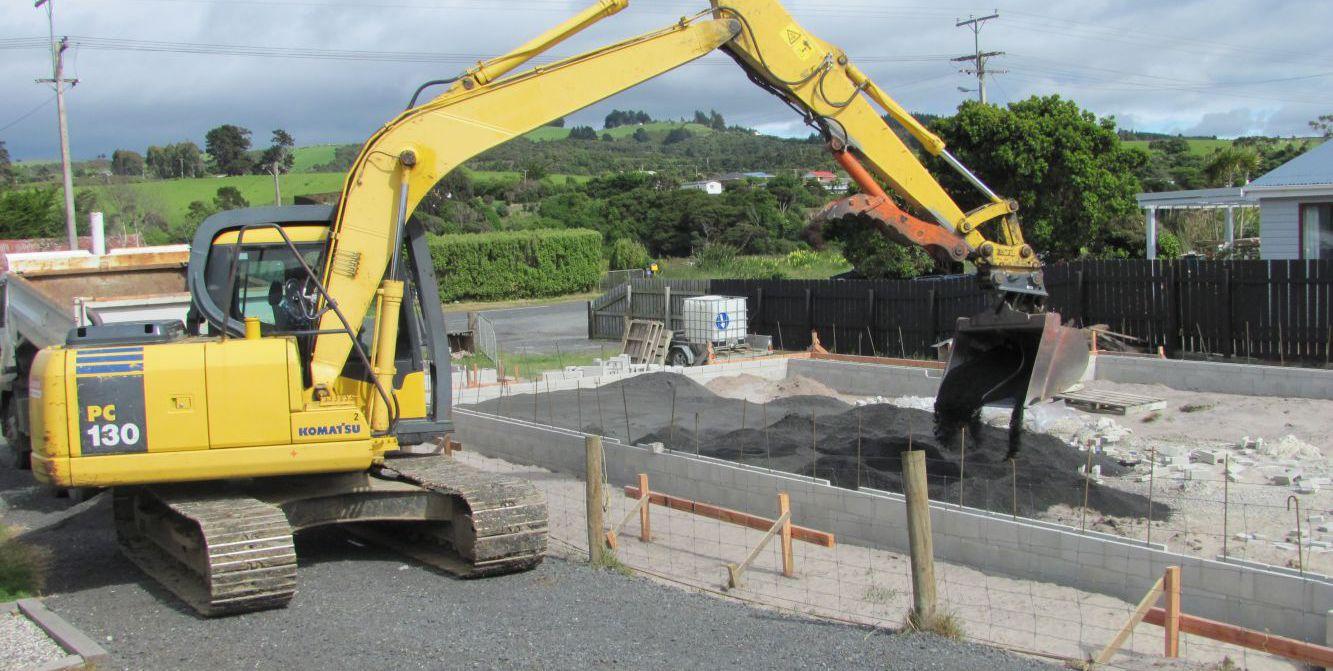 Earthmoving machine in Otago