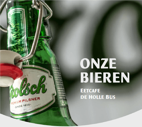 Bierkaart eetcafe de holle bus 2017